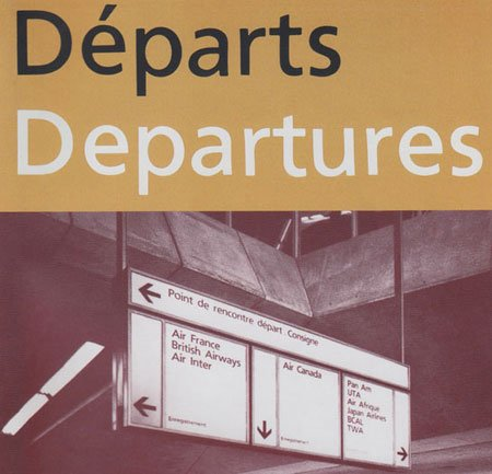 Alphabet Roissy, a preliminary version of theFrutiger typeface, at Charles de Gaulle Airport near Paris