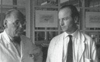 August Rosenberger (left) and Hermann Zapf