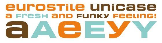 Eurostile Unicase usage sample