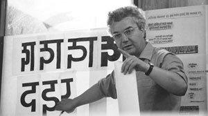 Adrian Frutiger visiting the National Institute of Design in India