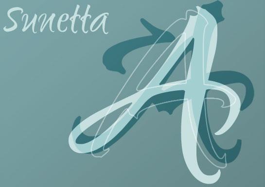 Muestra de la fuente Sunetta