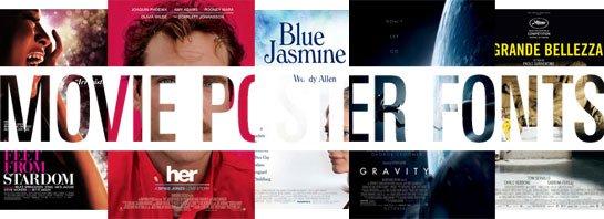 Oscar-awarded movie fonts 2014
