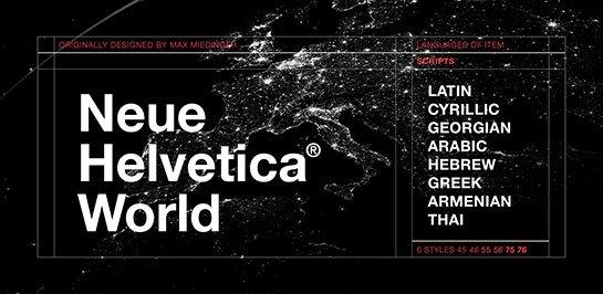 Neue Helvetica World